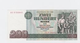 Billet  DDR De 200 Mark  De 1985  Pick 32 Neuf - [ 7] 1949-… : FRG - Fed. Rep. Of Germany