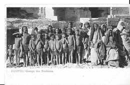 CPA Par FRITZ SCHNELLER -EGYPTE -groupe De Noubiens -union Postale Universelle - Personen