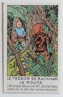 Rare 1945 Chromo Image Tintin Et Milou Hergé Vignette Promotionnelle Casterman Le Trésor De Rackham Le Rouge - Chromos
