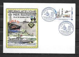 Surveillance Et Protection De Nos Cotes - Cachet Temporaire Rochefort 15- /10/11 Sur Montimbramoi - Postmark Collection (Covers)