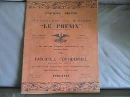 CATALOGUE - LE PHENIX - Fg ST ANTOINE à PARIS -  PAPIERS PEINTS - FOURNITURE POUR PEINTRES - 1936 - 1937 - France