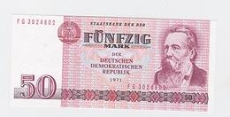 Billet  DDR De 50 Mark  De 1971  Pick 30 Neuf - [ 7] 1949-… : RFD - Rep. Fed. Duitsland