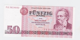 Billet  DDR De 50 Mark  De 1971  Pick 30 Neuf - [ 7] 1949-… : FRG - Fed. Rep. Of Germany