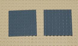 Lego 2x Plate Gris Foncé 8x8 Ref 41539 - Lego Technic