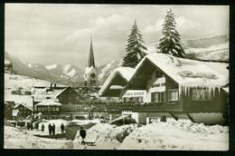 AK Austria, Riezlern | View | Postcard Sent To Germany, Riezlern 24.1.1955 - Kleinwalsertal