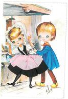 CARTE BRODEE - FRANCHE COMTE N°2 - Illustrateur Elsi - Costumes Régionaux - Ricamate