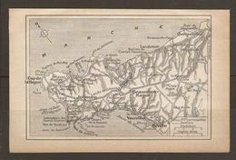 CARTE PLAN 1933 - CAP De La HAGUE NEZ De JOBOURG BEAUMONT VAUVILLE BIVILLE LANDEMER QUERQUEVILLE - Mapas Topográficas