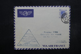 HONG KONG - Enveloppe 1 Er Vol Hong Kong / Hanoï En 1939 , Affranchissement Plaisant - L 32460 - Hong Kong (...-1997)
