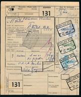 "Vrachtbrief Met Stempel  ""MARLOIE Nr 1"" + ""POIX-ST-HUBERT - VOYAGEURS"" - (ref. Nr 516) - Railway"