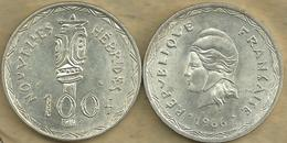 VANUATU NEW HEBRIDES 100 FRANCS ARTEFACT FRONT WOMAN HEAD BACK 1966 AG SILVER VF KM1 READ DESCRIPTION CAREFULLY !!! - Colonies