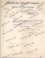 Société Des Scieries Trognon à Soissons, 1948 (bois, Exploitations Forestières) - Francia