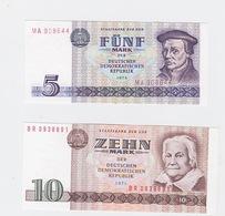 Billet DDR 5+10 Mark 1975 Et 1971 Neuf Pick 27+28 - 10 Deutsche Mark