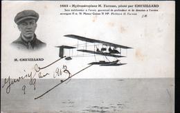 Hydroaeroplane H. Farman Pilote Par Chevillard - Aviateurs