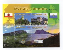 San Marino - 2010 - Emissione Congiunta Con Gibilterra - 4 Valori - (FDC15885) - Blocchi & Foglietti