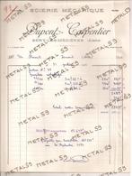 Scierie Mécanique Dupont Carpentier à Séry Les Mézières, 1954 (bois, Exploitations Forestières) - 1900 – 1949