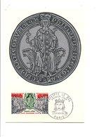 CARTE MAXIMUM 1968 PHILIPPE LE BEL - 1960-69