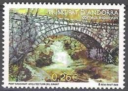 Andorra Español 2003 Yvert 289 Neuf ** Cote (2015) 1.00 Euro Pont Sassanat - Andorre Espagnol