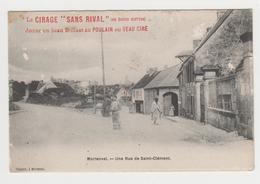PO06 - MORIENVAL -  Une Rue De Saint -Clément - Avec Tampon : Le Cirage Sans Rival - France