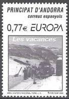 Andorra Español 2004 Yvert 302 Neuf ** Cote (2015) 3.00 Euro Europa CEPT Les Vacances - Andorre Espagnol