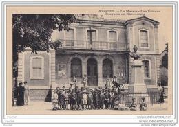 11) ARQUES (AUDE)  LA  MAIRIE - LES ECOLES - BUSTE DE LA RÉPUBLIQUE    - (ANIMÉE) - France