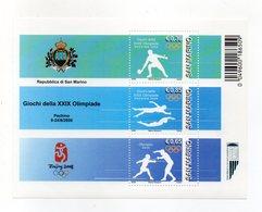 San Marino - 2008 - Olimpiadi Di Pechino - 3 Valori - (FDC15888) - Blocchi & Foglietti