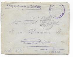 KRIEGSGEFANGENEN - 1915 - ENVELOPPE De PRISONNIER Du STALAG De SCHLEISSHEIM => DIJON - 1. Weltkrieg 1914-1918