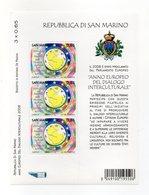 San Marino - 2008 - Anno Europeo Del Dialogo Interculturale - 3 Valori - (FDC15889) - Blocchi & Foglietti