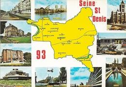 CARTES GÉOGRAPHIQUES - 93 SEINE SAINT DENIS - 10 PETITES VUES - CPM - VIERGE - - Maps