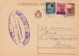 1946 Cartolina Postale Democratica Con Stemma Lire 1,20 Con Fr.lli Aggiunti Democratica  C.60 E Monumenti Distrutti Sopr - 5. 1944-46 Luogotenenza & Umberto II
