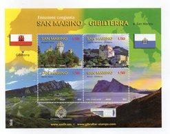 San Marino - 2010 - Emissione Congiunta Con Gibilterra - 4 Valori - (FDC15890) - Blocchi & Foglietti