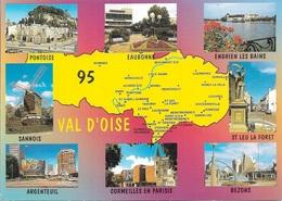 CARTES GÉOGRAPHIQUES - 95 VAL D'OISE - 8 PETITES VUES - CPM - VIERGE - - Cartes Géographiques