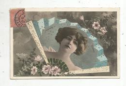 Cp, Spectacle ,artiste,  ROMANO ,  éventail,  Voyagée 1907 - Künstler