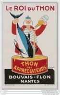 """44 NANTES PUB ANCIENNE BOUVAIS - FLON """""""""""""""""""""""""""""""" Le Roi Du Thon """""""""""""""""""""""""""""""" D´après P. Baudrier - Publicité"""