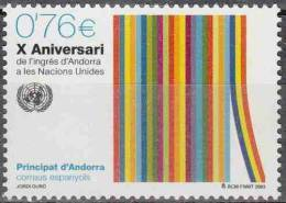 Andorra Español 2003 Yvert 293 Neuf ** Cote (2015) 3.10 Euro 10 ème Anniversaire De L'adhésion à L'ONU - Andorre Espagnol