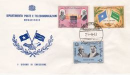 1967 SOMALIA IND. Visita Re Feisal Seri Cpl. FDC - Somalia (1960-...)