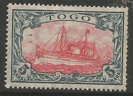 German Togo - 1915 Kaiser's Yacht 5mk MH *   Sc 23 - Colony: Togo