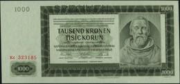 BOHEMIA & MORAVIA - 1.000 Korun 24.10.1942 {2 Auflage Prefix #c} {SPECIMEN} UNC P.14 S - Czechoslovakia