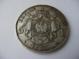 5 Francs 1855 BB Napoléon III Argent Tète Nue  état TTB - France