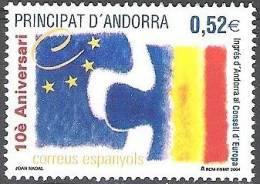 Andorra Español 2004 Yvert 307 Neuf ** Cote (2015) 2.00 Euro Conseil De L'Europe - Andorre Espagnol