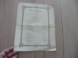 Programme Palais Des Tuileries 19/02/1845 Musique Classique - Programma's