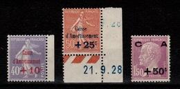 YV 249 à 251 N* 2ere Serie Caisse D'Amortissement Cote 107 Euros - France