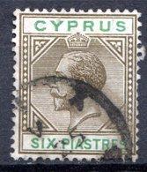 Ile De CHYPRE - (Colonie Britannique) - 1912 - N° 62 - 6 Pi. Gris-olive Et Vert - (George V) - Cyprus (...-1960)