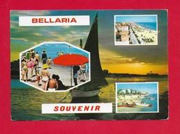 CARTOLINA VG ITALIA - BELLARIA (RN) - Souvenir - Vedutine Multivue - 10 X 15 - ANN. 1975 - Rimini