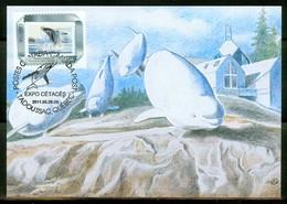 Expo Philatélique, Baleines + Cétacés, Tadoussac 2011; Dessin Mme M.-N. Goffin  Carte Maximum Card.(0334) - Maximumkaarten
