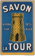 MARSEILLE - Savon La Tour Extra Pur 72% D´Huile - (carte Publicitaire - Publicité - 2 Scans) - Publicité