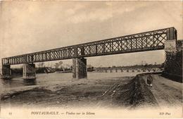 Pontaubault Viaduc Sur La Seine Belle Carte En Très Bon état - Altri Comuni