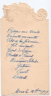 Menu - Feestmaal - Moen 1909 - Menus