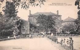 MONTJEAN (49) L'Ecole Des Garçons - En Parfait état - RARE - France