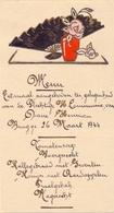 Menu - Eetmaal Communie Diane Hennion - Brugge 26 Maart 1944 - Menus