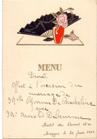 Menu - Diner Mariage - Huwelijk Yvonne De Brackeleire X Arnold Debeurme - Bruges Brugge 1931 - Menus